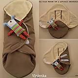 Textil - Fusak do kočíka zo 100% ovčej vlny MERINO top super wash - 9921096_