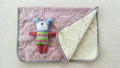 Textil - RUNO SHOP Deka 100% ovčie rúno MERINO ELEGANT Dusty Pink staroružová - 9918226_