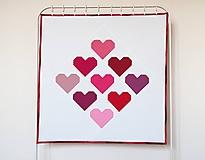 Textil - Detská moderná pw deka srdcia v ružovo-červenom - 9920346_