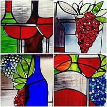 Obrazy - Vitráž vonící vínem - 9921171_