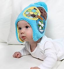 Detské čiapky - Hrejivá čiapka - ušianka - 9921899_