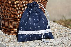 Úžitkový textil - Modrotlač. Vrecúška z modrotlače na bylinky...aj hocičo iné. - 9921683_