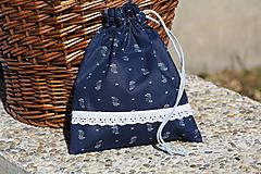 Úžitkový textil - Modrotlač. Vrecúška z modrotlače na bylinky...aj hocičo iné. - 9921685_