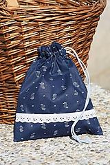 Úžitkový textil - Modrotlač. Vrecúška z modrotlače na bylinky...aj hocičo iné. - 9921689_