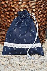 Úžitkový textil - Modrotlač. Vrecúška z modrotlače na bylinky...aj hocičo iné. - 9921695_