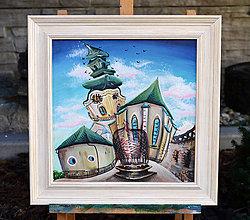 Obrazy - Nitra hrad / Rám - 9919333_