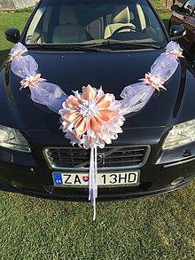 Dekorácie - Výzdoba na svadobné auto - 9918370_