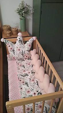 Detské doplnky - Ružový Púdrik, zapletaný mantinel, rôzne farby, dĺžka 50-500cm - 9919690_