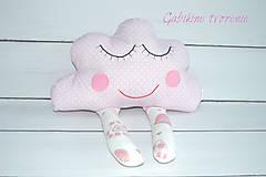 Úžitkový textil - Mráčik v ružovom - 9921002_