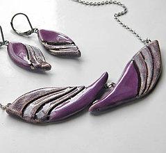Sady šperkov - Sada šperkov z keramiky - fialová - 9918506_