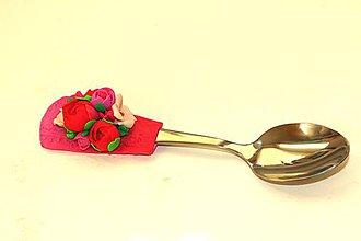 Darčekové poukážky - Lyžička - ruže- - 9919964_