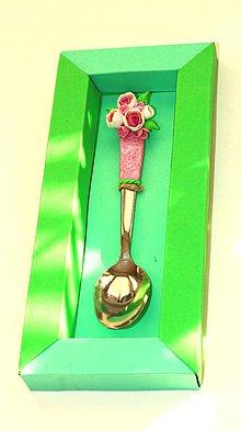 Darčekové poukážky - Lyžička - ruže - 9920023_