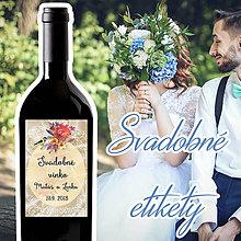 Darčeky pre svadobčanov - Svadobné etikety 45 - 10ks balenie - 9918742_