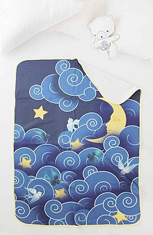 """Textil - Detská deka """"Nočná obloha"""" - 9919360_"""