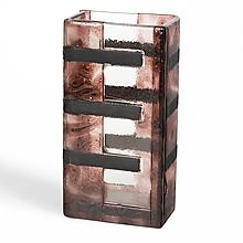 Dekorácie - Sklenená váza LAVA hnedá - 9921922_