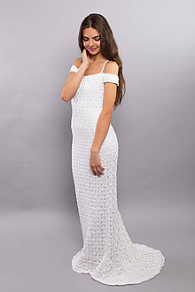 Šaty - Hačkované Svadobné Šaty Gloria - 9919159_