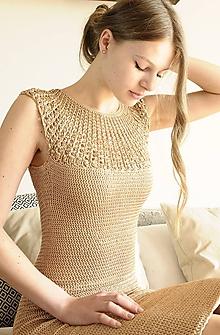 Šaty - Hačkované Šaty Kate - 9919758_