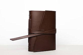 Papiernictvo - Kožený zápisník Milton - 9919534_