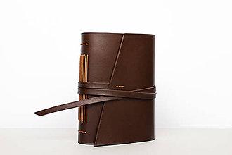 Papiernictvo - Kožený zápisník Cyprián - 9919555_