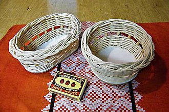 Košíky - Košíky z pedigu s kruhovým a oválnym dnom - 9921583_