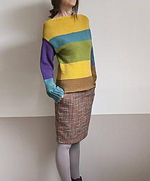 Svetre/Pulóvre - farebné pásy pulover - 9919136_