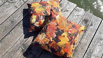 Úžitkový textil - Obliečky na vankuše (Jesenné lístie) - 9925600_