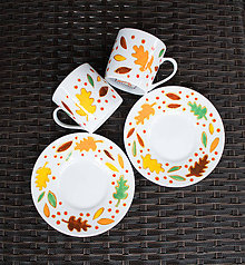 Nádoby - Jesenné šálky na espresso - 9923728_