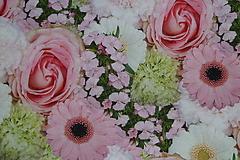 Textil - Látka Ruže a gerbery digi - 9925182_