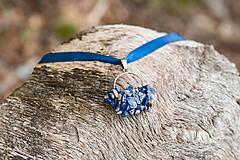 Náhrdelníky - pletený náhrdelník zo sodalitu - 9924537_