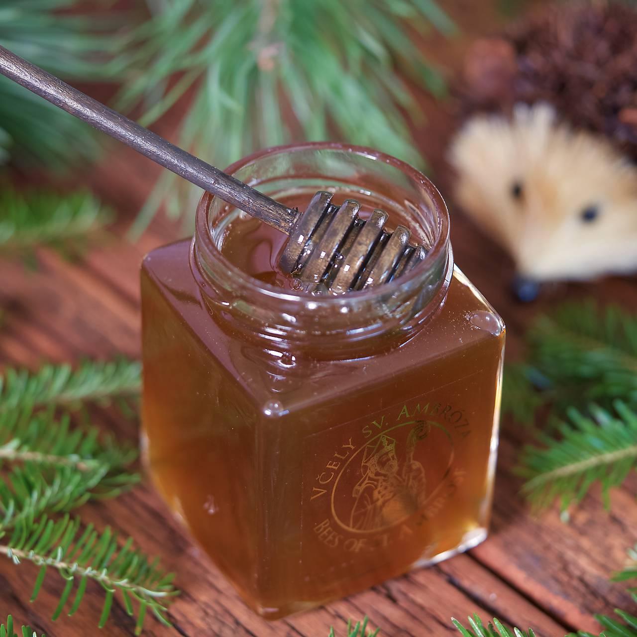 Potraviny - medovicový med - jedľa a smrekovec - 9924089_