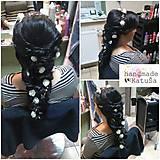 dlhá kvetová ozdoba do vlasov