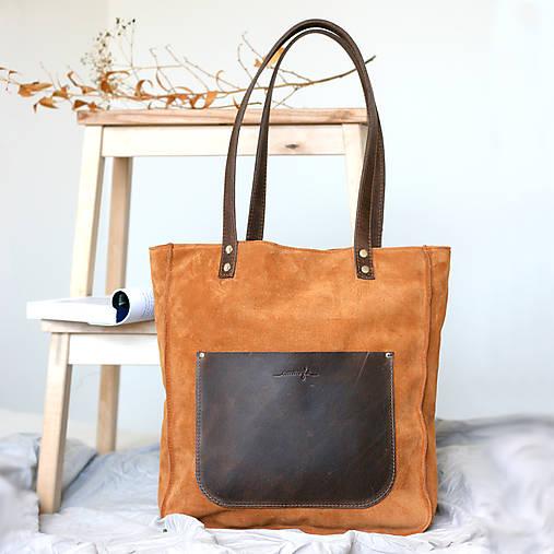 Kožená kabelka Vera (hnedá)