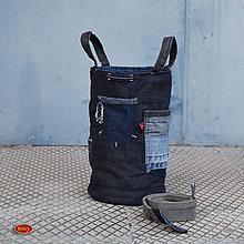 Košíky - recy sešívaný koš úzký (kabelka) 17, zerowaste - 9924718_