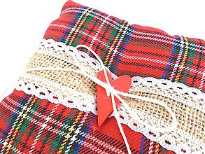 Prstene - Svadobný vankúšik pod obrúčky (Christmas) - 9922596_