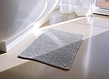Úžitkový textil - Pletený koberček/predložka - sivá - 9922174_