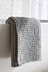 Úžitkový textil - Pletený koberček/predložka - sivá - 9922176_