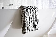Úžitkový textil - Pletený koberček/predložka - sivá - 9922177_