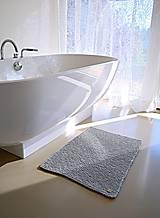 Úžitkový textil - Pletený koberček/predložka - sivá - 9922180_