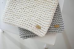 Úžitkový textil - Pletený koberček/predložka - sivá - 9922191_