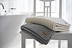 Úžitkový textil - Pletený koberček/predložka - sivá - 9922195_