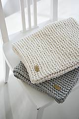 Úžitkový textil - Pletený koberček/predložka - sivá - 9922196_