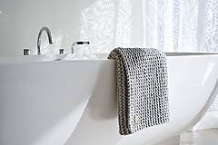 Úžitkový textil - Pletený koberček/predložka - sivá - 9922199_