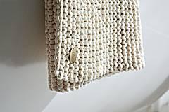 Úžitkový textil - Pletený koberček/predložka - prírodná - 9922217_