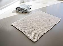 Úžitkový textil - Pletený koberček/predložka - prírodná - 9922222_