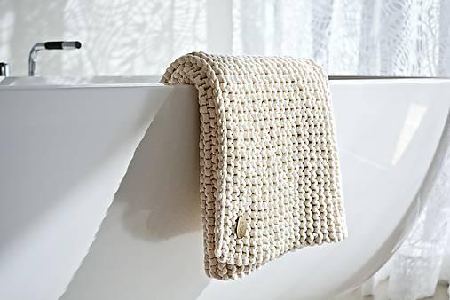 Pletený koberček/predložka - prírodná