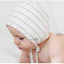 Detské čiapky - Čepiec, pásik - 9923533_
