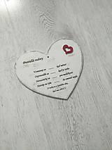 Tabuľky - Drevené srdce - 9923163_