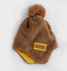 Detské čiapky - Hrejivá čiapka - ušianka - 9925788_