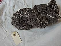 Materiál ručne robený - Hnedá tvídová trojnitka, 162g - 9923212_