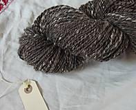 Materiál ručne robený - Hnedá tvídová trojnitka, 162g - 9923215_